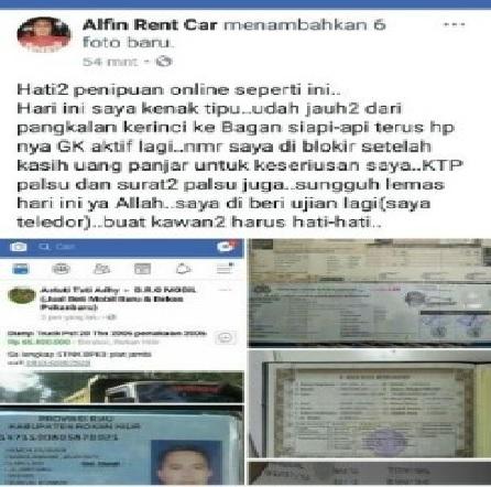 Warga Pelalawan Menjadi Korban Penipuan Jual Beli Online